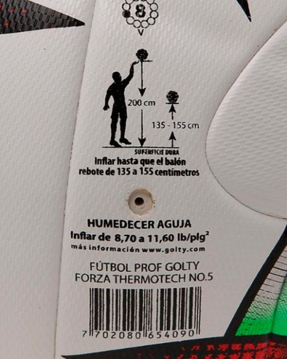 Balón de Fútbol Profesional   Golty® Forza Thermotech No.5