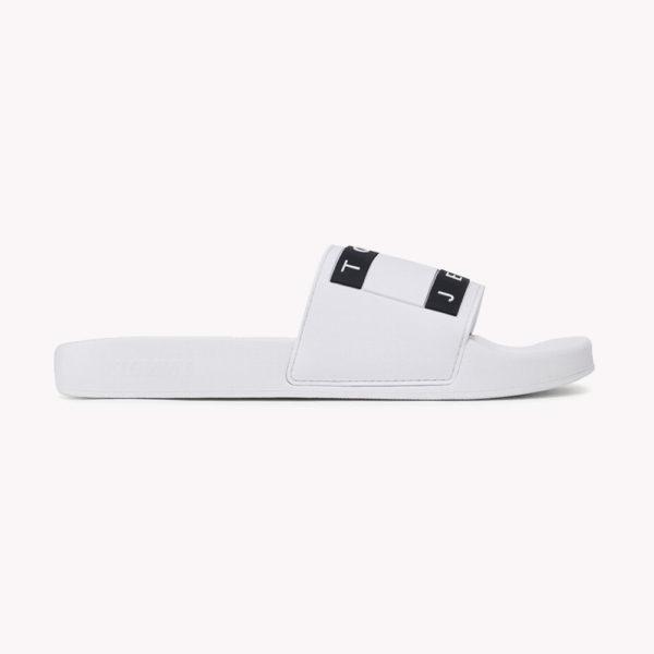 Sandalias | Tommy Hilfiger® Flag Pool Slide Blancas