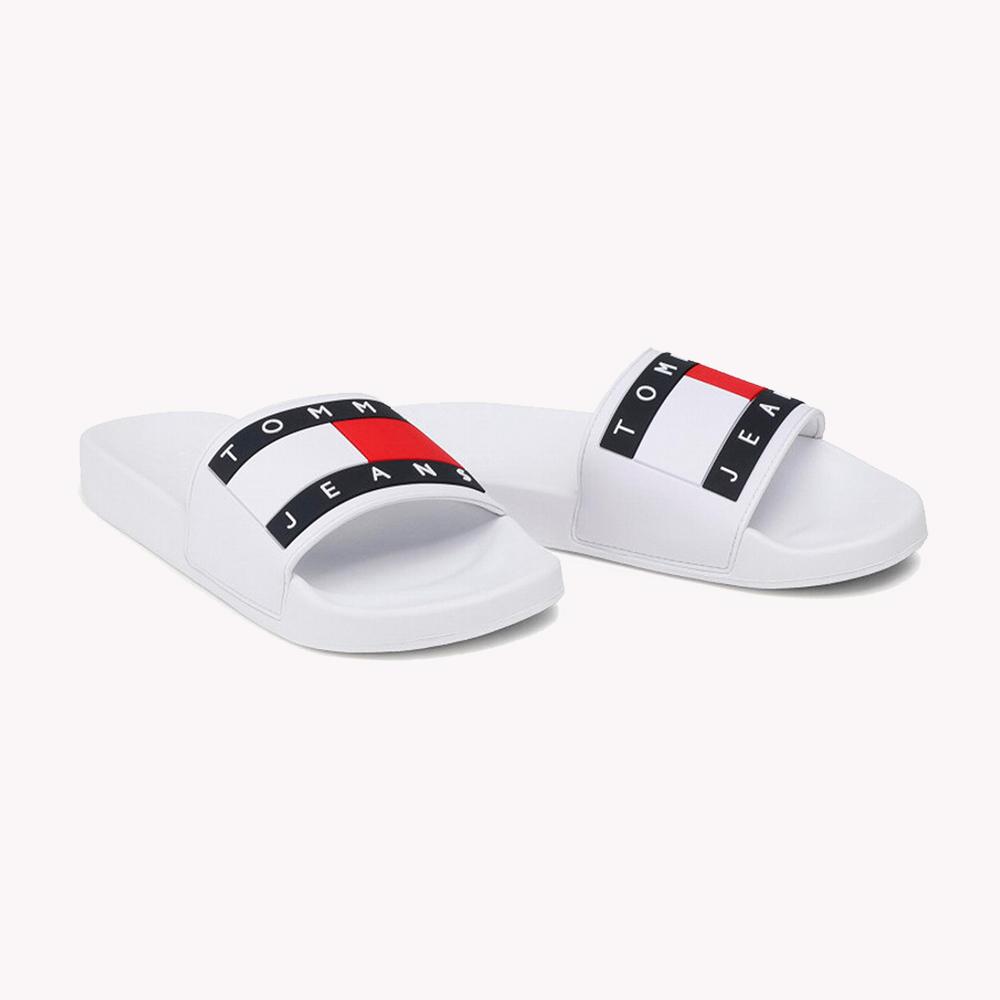 Sandalias   Tommy Hilfiger® Flag Pool Slide Blancas
