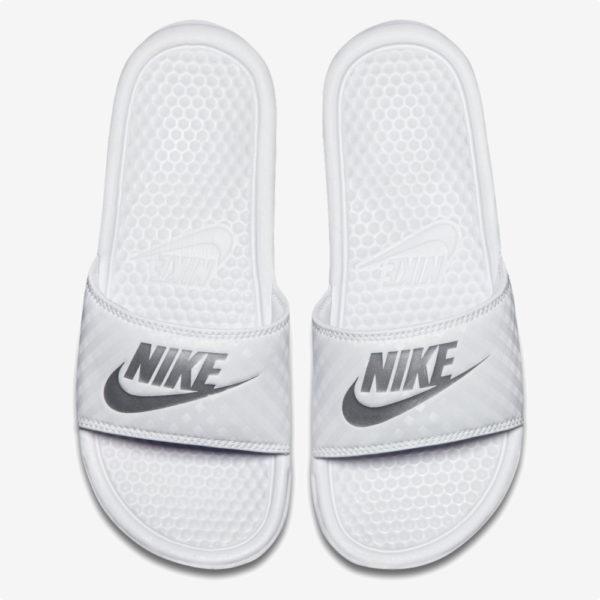Sandalias | Nike® WMNS Benassi JDI Blancas- plata