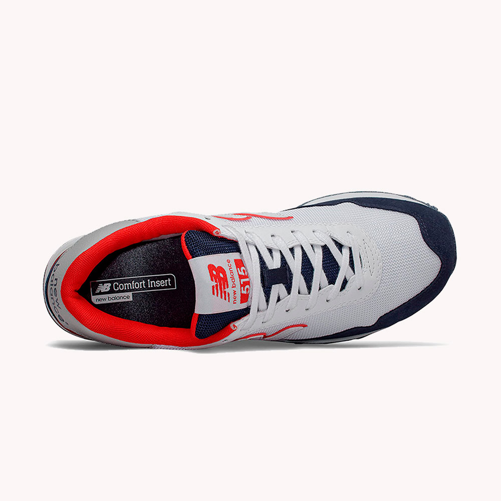 Tenis   New Balance® Core 515 Blancos - azul