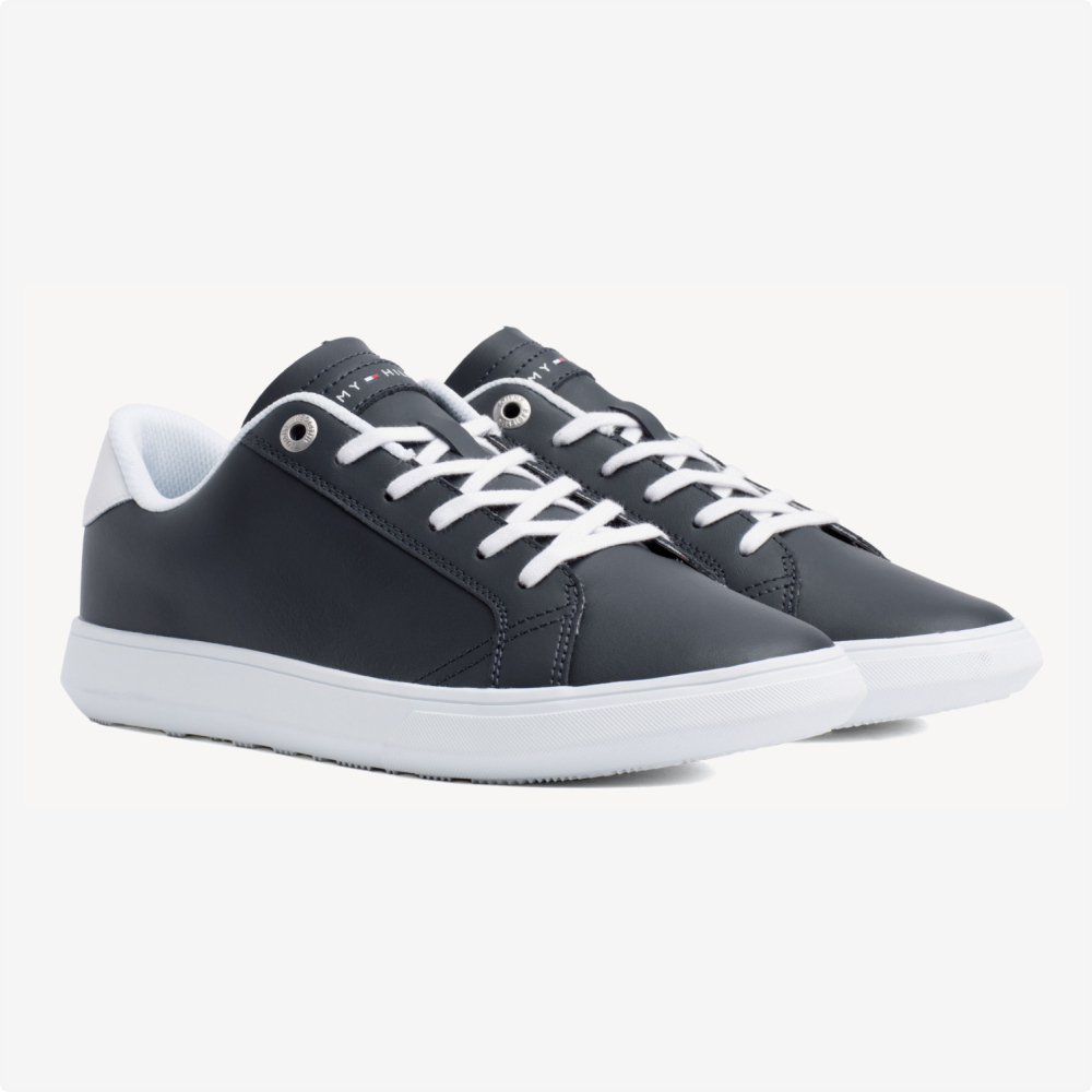 Tenis | Tommy Hilfiger® Essential Leather Cupsole Negros- blanco