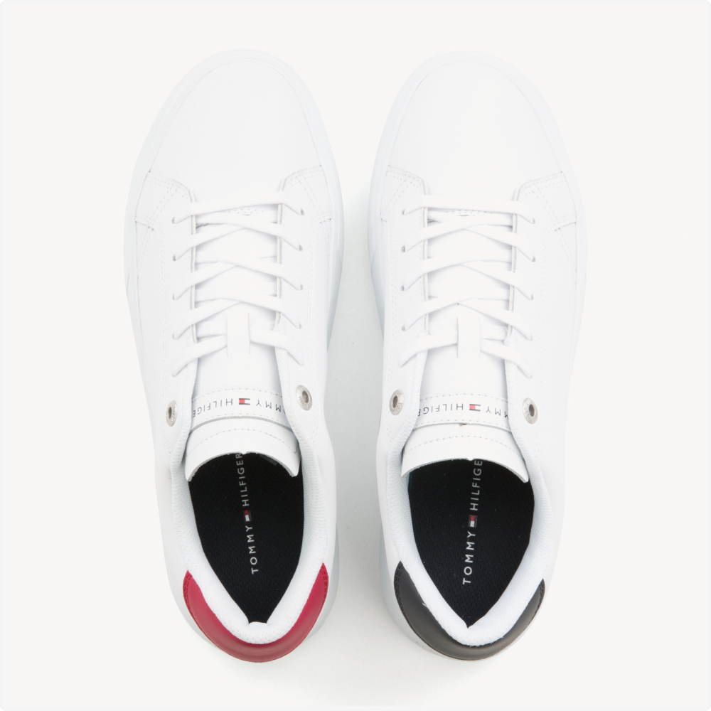 Tenis | Tommy Hilfiger® Essential Leather Cupsole Blancos