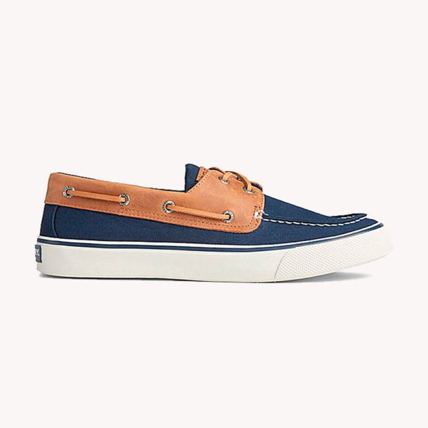 Tenis Casuales   Sperry® Bahama II Leather Navy/Tan
