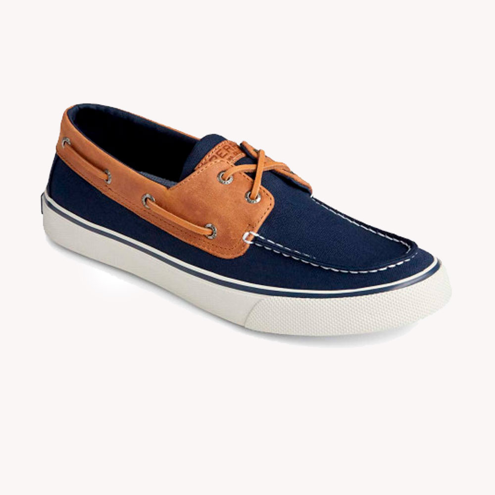Tenis Casuales | Sperry® Bahama II Leather Navy/Tan