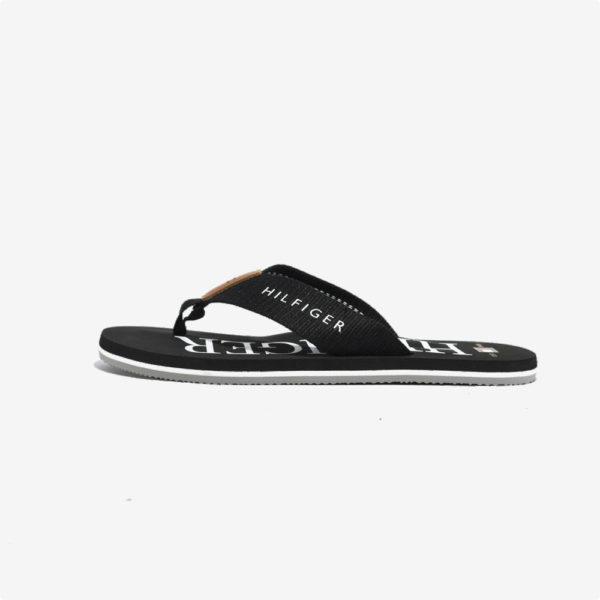 Sandalias | Tommy Hilfiger® Heritage Hilfiger Flip Flop Black