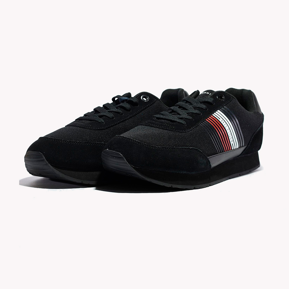 Tenis Tommy Hilfiger Corporate Material Mix Runner Black