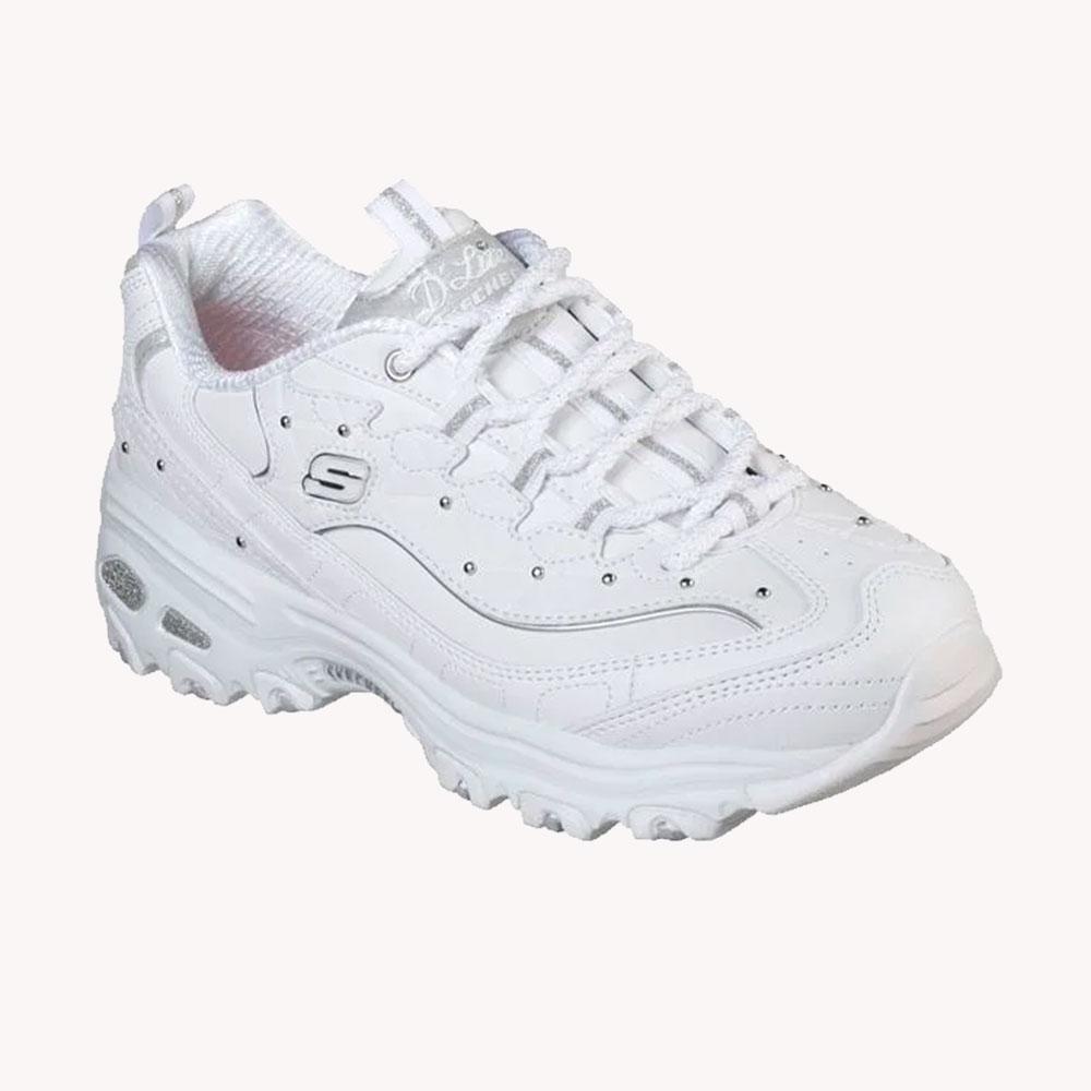 Tenis Skechers D'lites Fresh Start White/ Silver