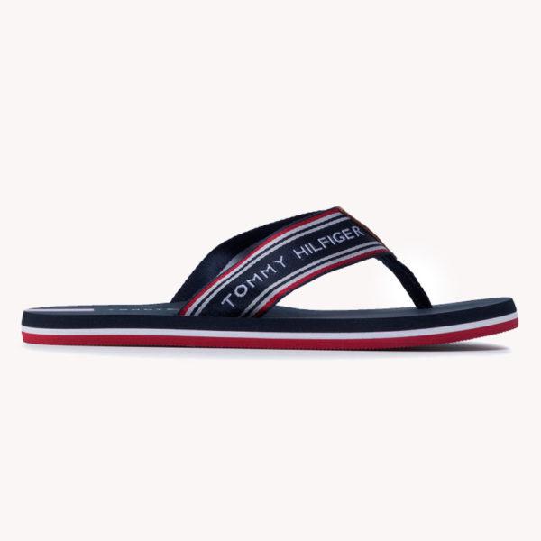 Sandalias   Tommy Hilfiger® Logo Tape Beach Sandal Desert Sky