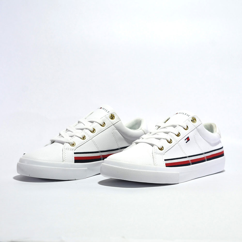 Tenis Tommy Hilfiger® WMNS RWB Tape Around Sneaker White