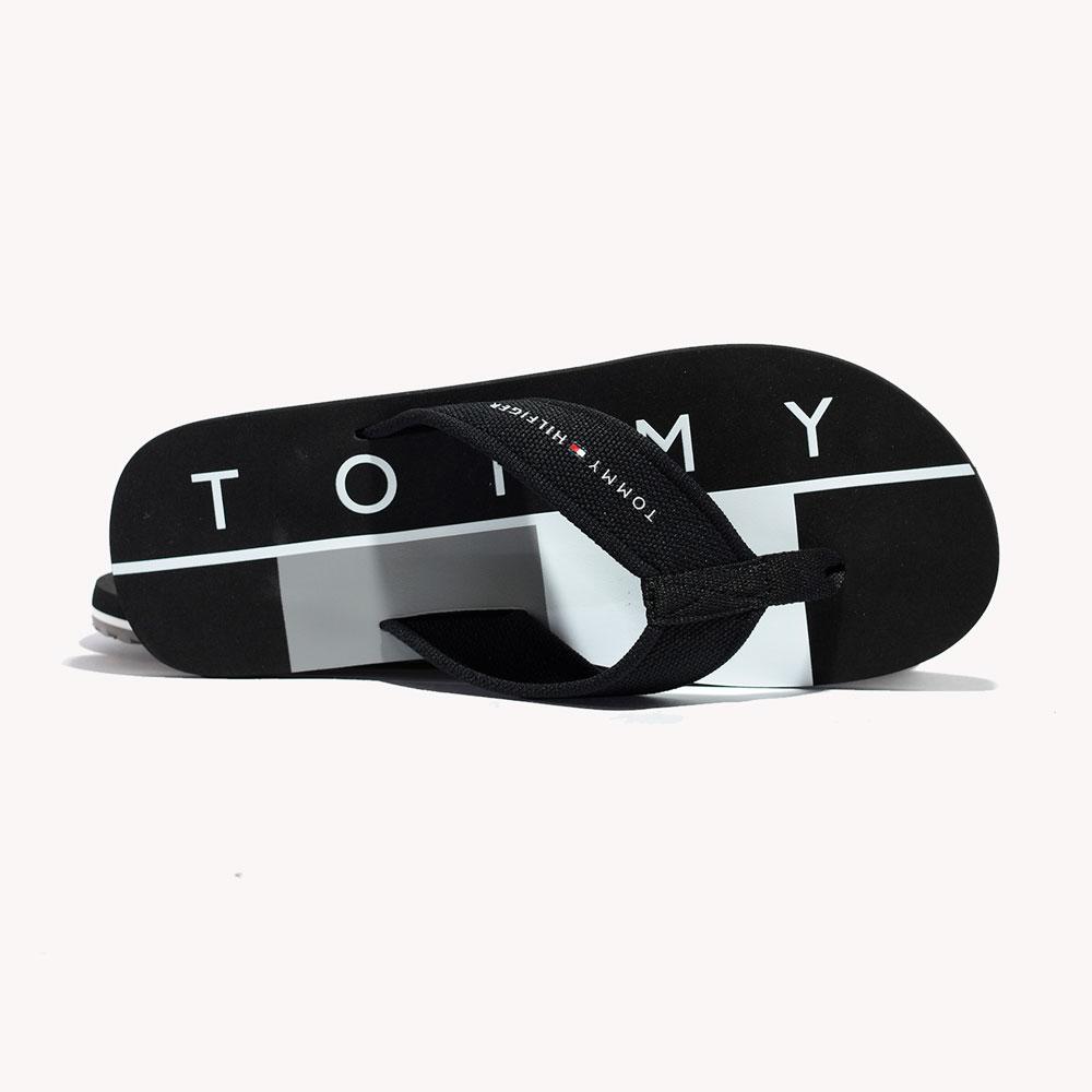 Chanclas   Tommy Hilfiger® Half Flag Flip Flop Black