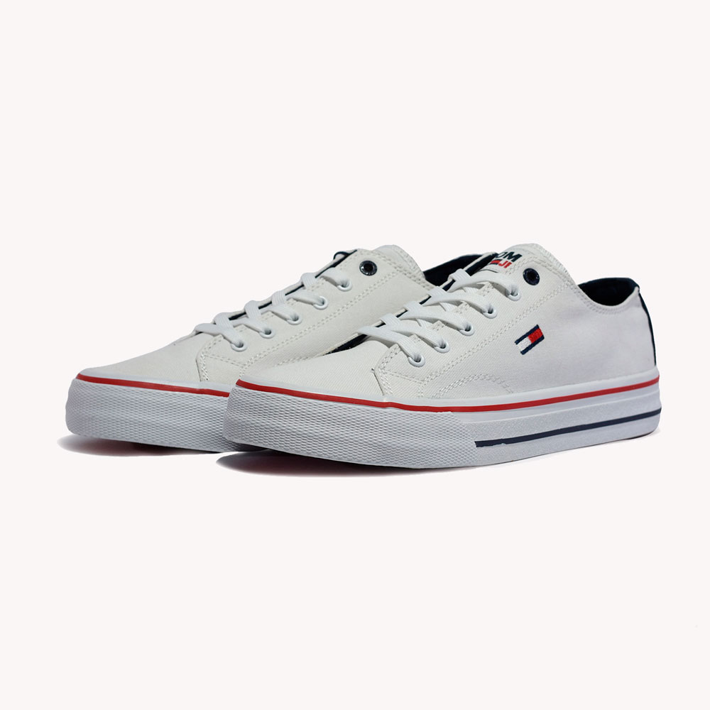 Tenis   Tommy Hilfiger Long Lace Up Vulc White