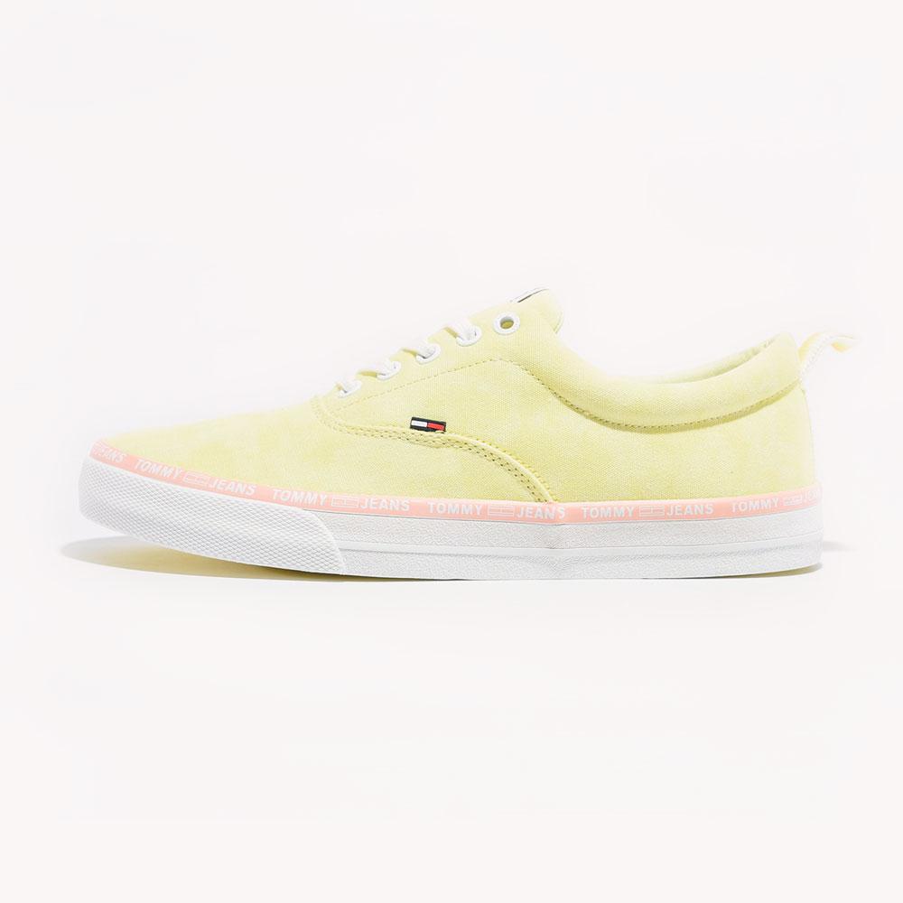 Tenis   Tommy Hilfiger Pastel Color Lace Up Lemon Chiffon