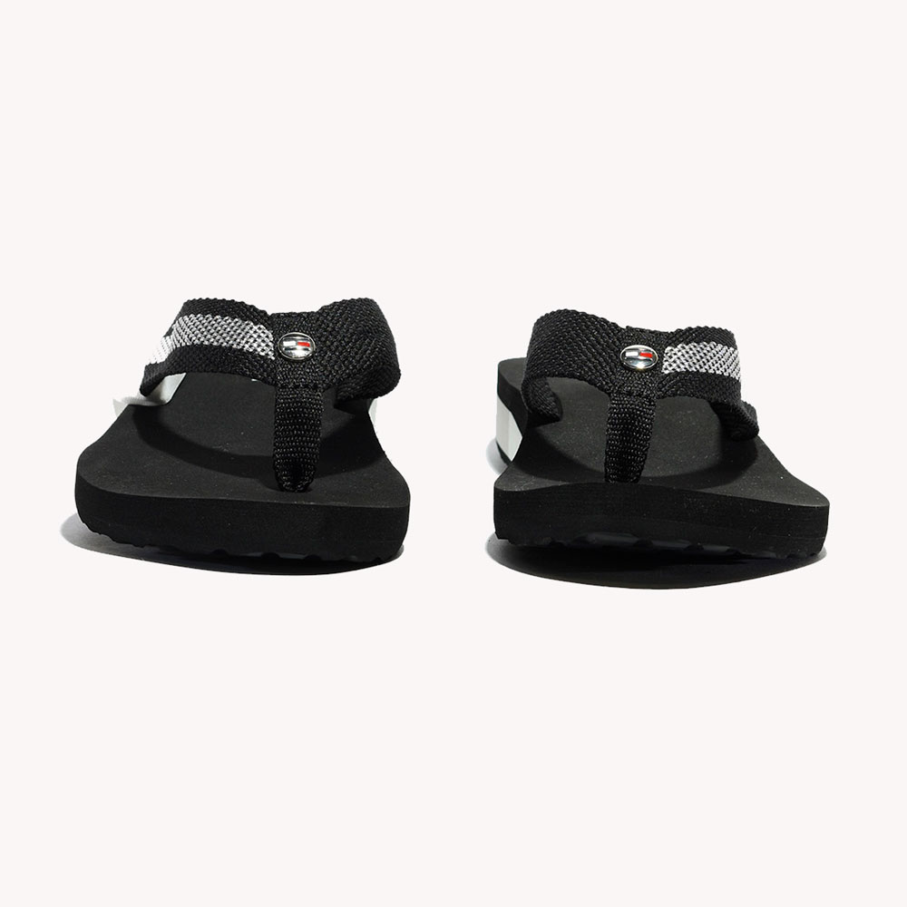 Chanclas | Tommy Hilfiger® Shiny Detail Mid Wedge Black